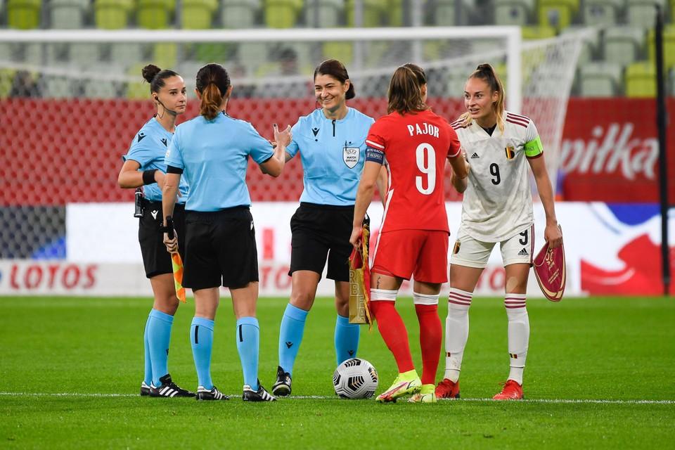 Tessa Wullaert en Eva Pajor kennen elkaar nog van bij Wolfsburg.