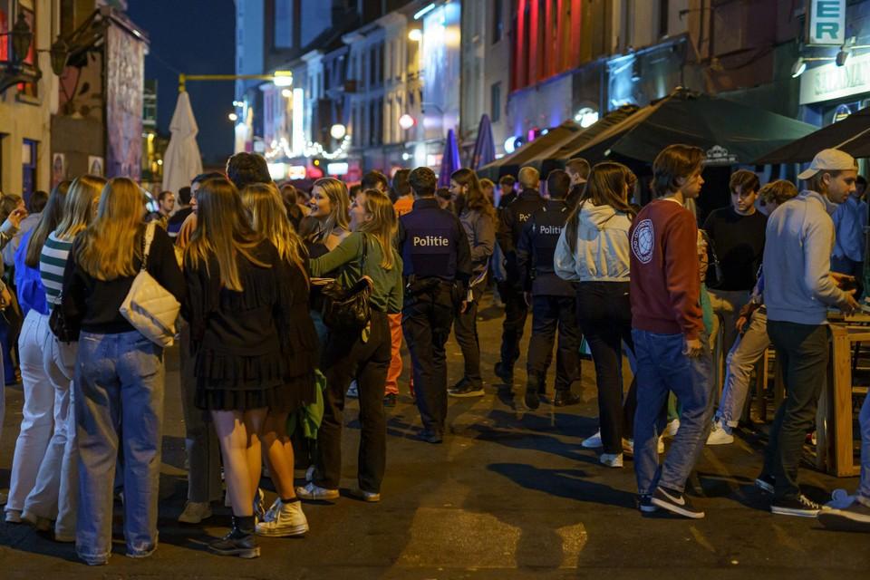 De politie van Gent hield heel de nacht een oogje in het zeil