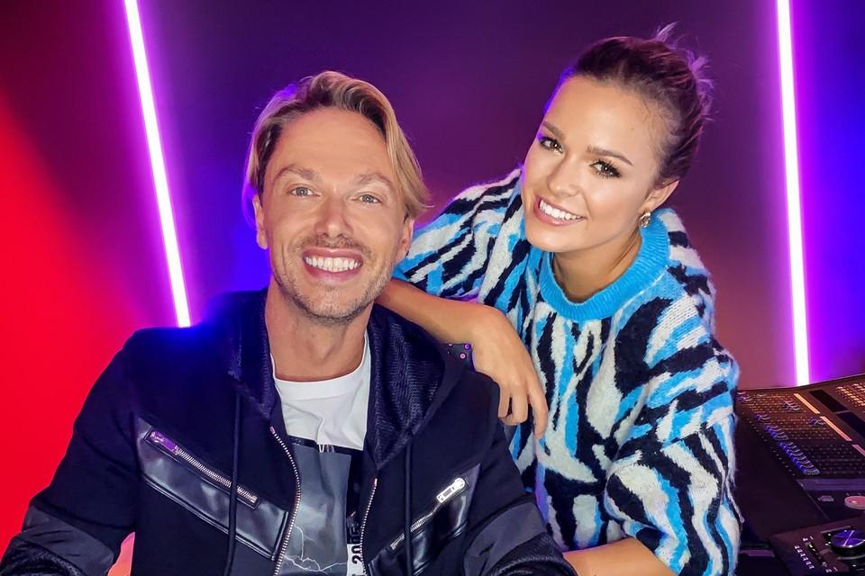 Regi en zijn nieuwe zangeres: Pauline Slangen uit Lommel.