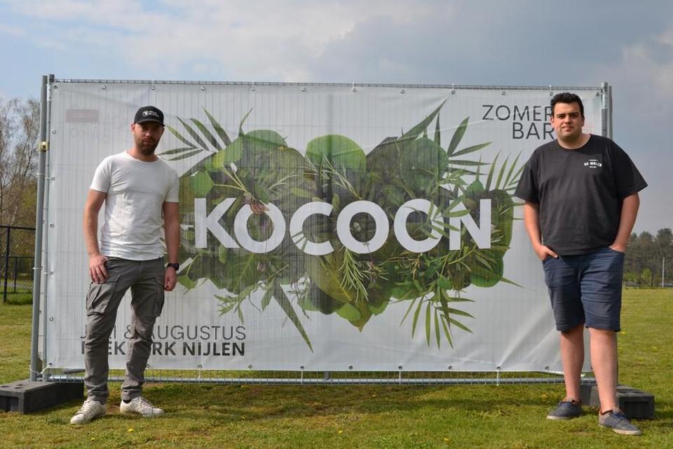 Stef Roevens (links) organiseert Naale Jaarmet in Beekpark.