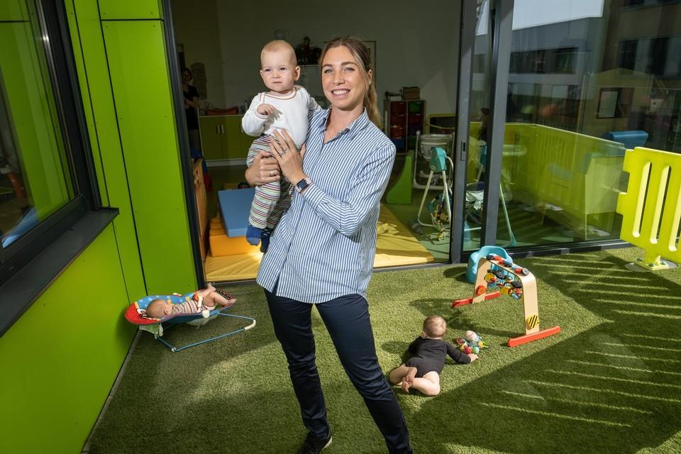 """""""Er wordt zo veel van ons verwacht, en er komt zo weinig in de plaats"""", zegt Elise Lemaître, leidinggevende in kinderdagverblijf De Zinnekes"""