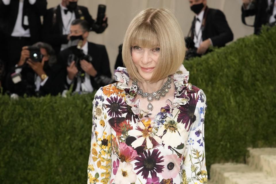 Vogue-hoofdredactrice Anna Wintour. Sinds 1995 valt het gala onder haar hoede en groeide het Met Gala uit tot hét belangrijkste mode-evenement ter wereld.