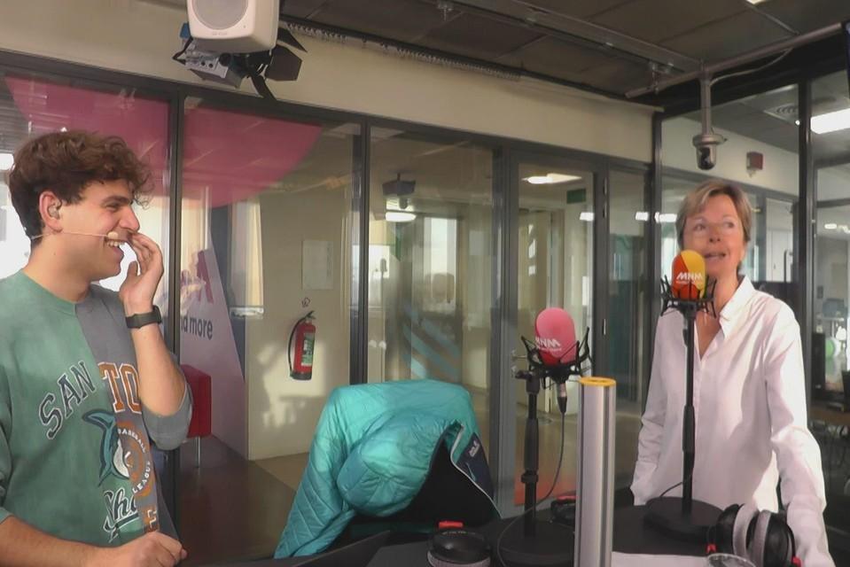 Ingeborg in de MNM-studio