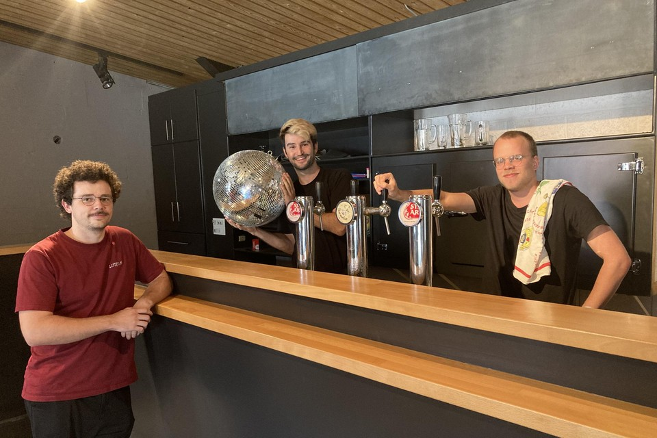 Michiel (links), Denis en Kasper hopen op een succesvol openingsweekend.
