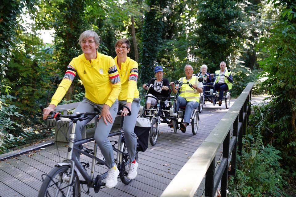 Het Gentse olympische tandemduo Griet Hoet en Anneleen Monsieur steunen het initiatief