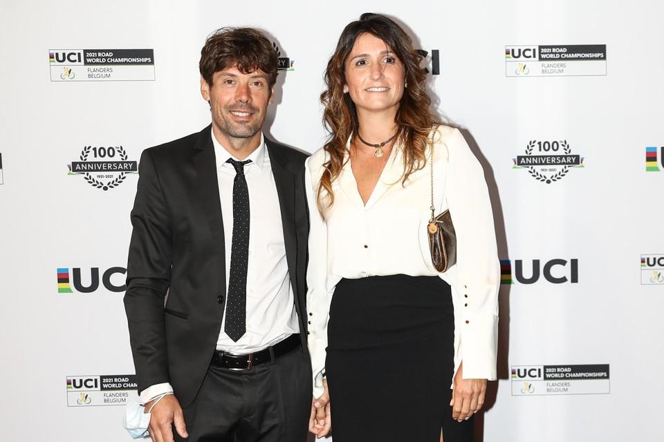 Oscar Freire met echtgenote.