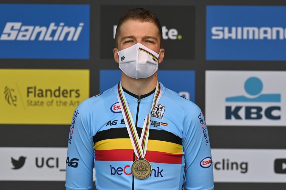 Florian Vermeersch bereikte maandag zijn eerste doel: brons op de tijdrit.
