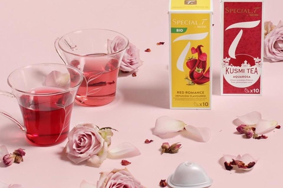 <P>Voor een theemoment via videogesprek - Special T x Kusmi Tea. - 4,20 euro per doos van 10 capsules. </P>