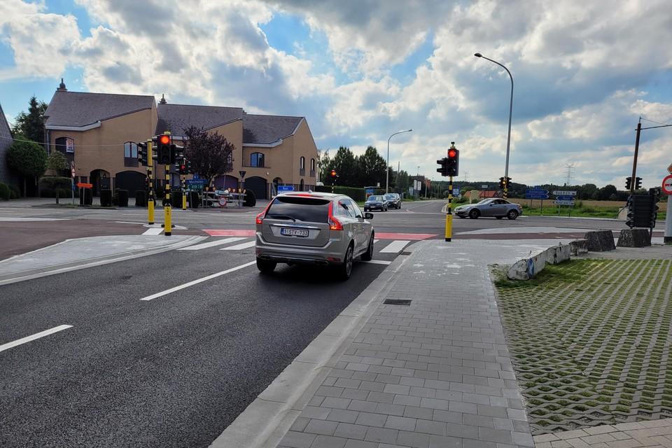 Het kruispunt in Waarloos (Kontich) werd al aangepakt