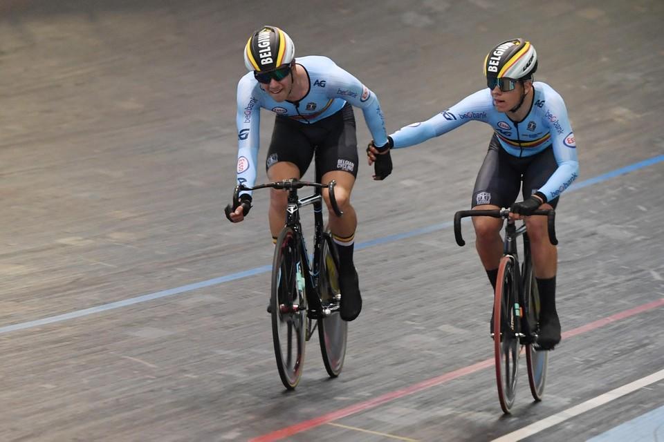 Noah Vandenbranden en Gianluca Pollefliet werden knap vijfde.