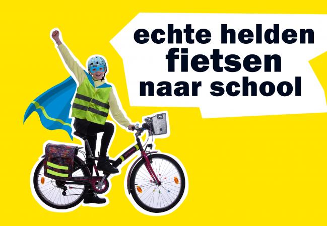 Het project Bike2School is vrijdag gestart in veertien Kempense gemeenten.