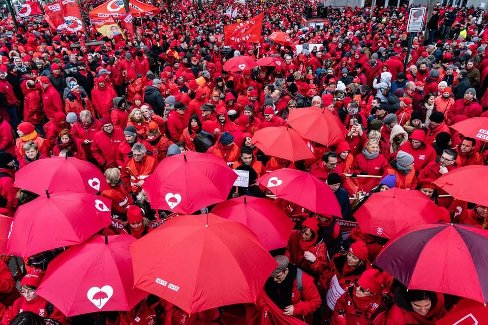 De socialistische vakbond ABVV houdt vrijdag 24 september een nationale betoging (archiefbeeld)