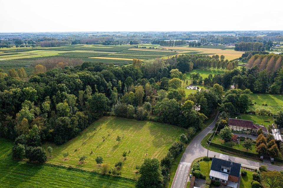 Het stukje Wellen waarop de burgemeester van Alken aast om aan Kortessem te kunnen grenzen. Het zijn vooral velden en bossen maar ook enkele boerderijen.