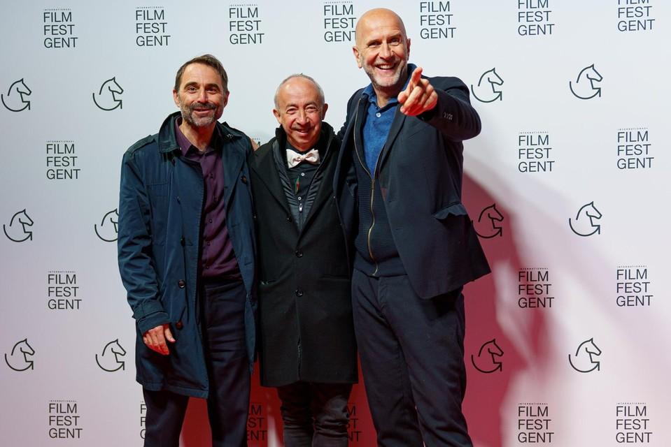 Acteur Michaël Pas en regisseurs Stijn Coninx en Nic Balthazar hadden een avondje jongenspret onder elkaar.