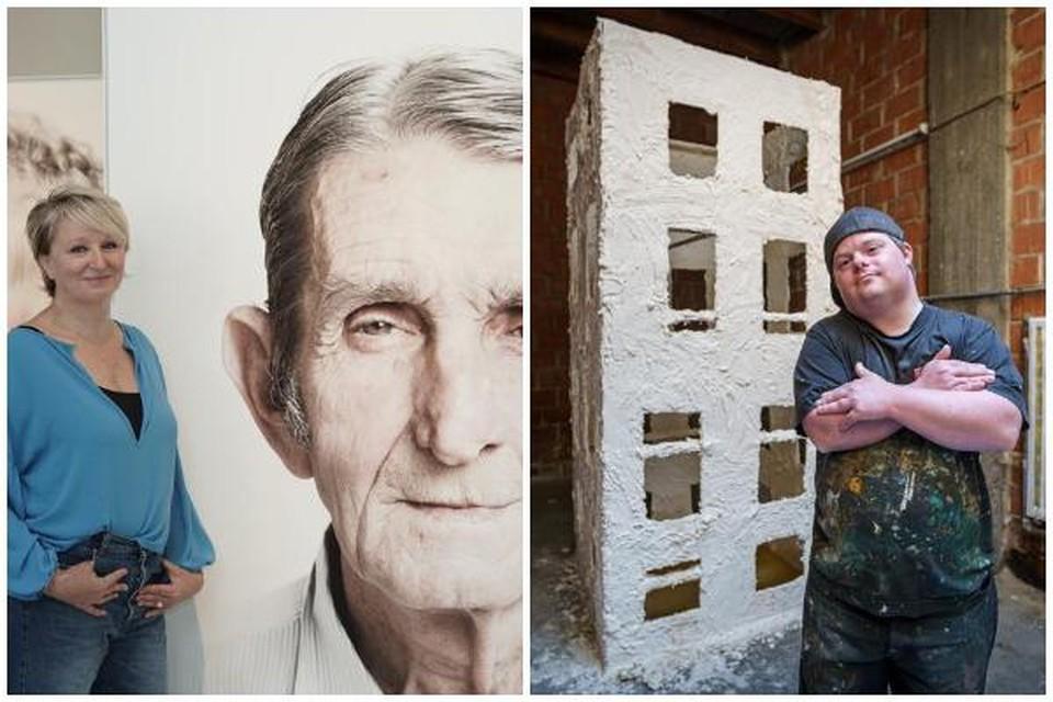 Fotografe Lieve Blancquaert stelt samen met kunstenaar Bram Boncquet hun werk tentoon in de oude gebouwen van Truck Service in de Vliegtuiglaan