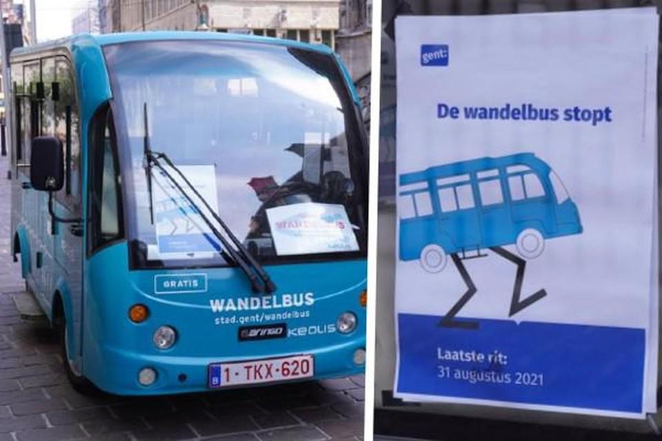 Vaarwel, wandelbus. De blauwgroene busjes verdwijnen uit het Gentse straatbeeld.
