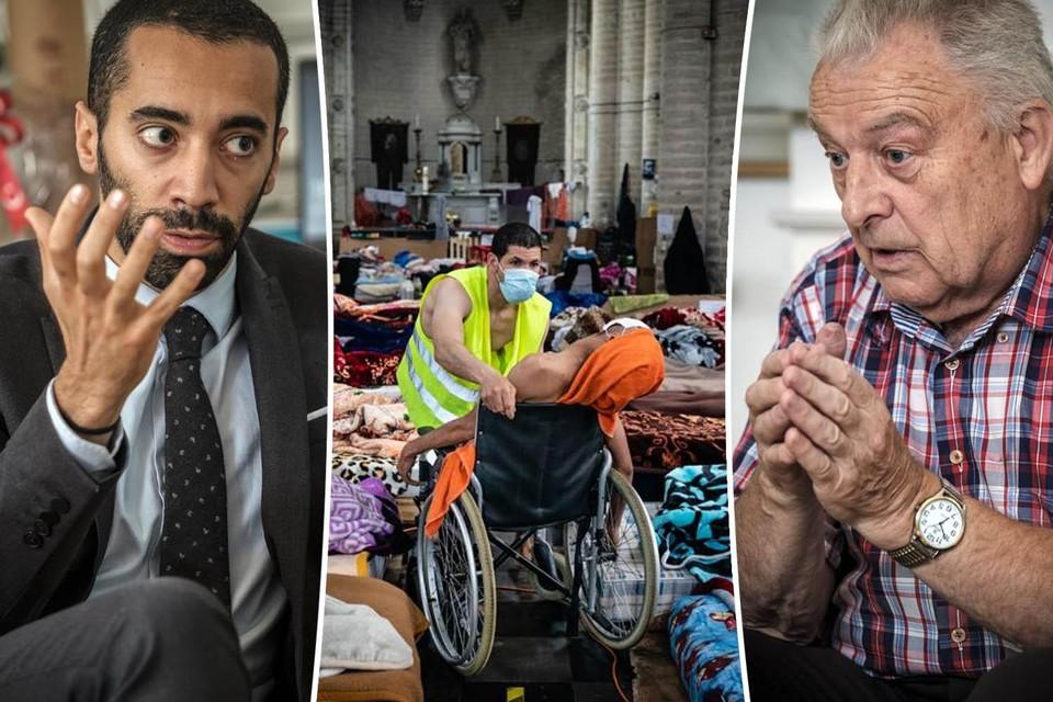 Sammy Mahdi en Daniel Alliët in discussie over de hongerstakers.