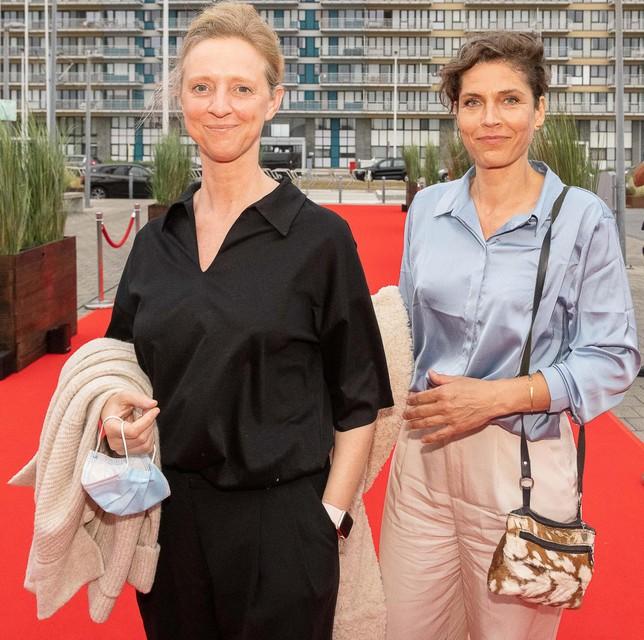 Joke Devynck (ex-vrouw van Johan Heldenbergh) met haar huidige partner: Valery, een kunstenares.