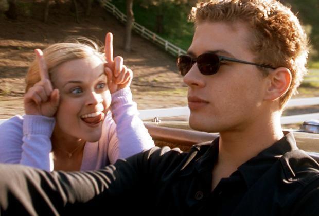 Reese Witherspoon en haar ex-man Ryan Phillippe in Cruel intensions.