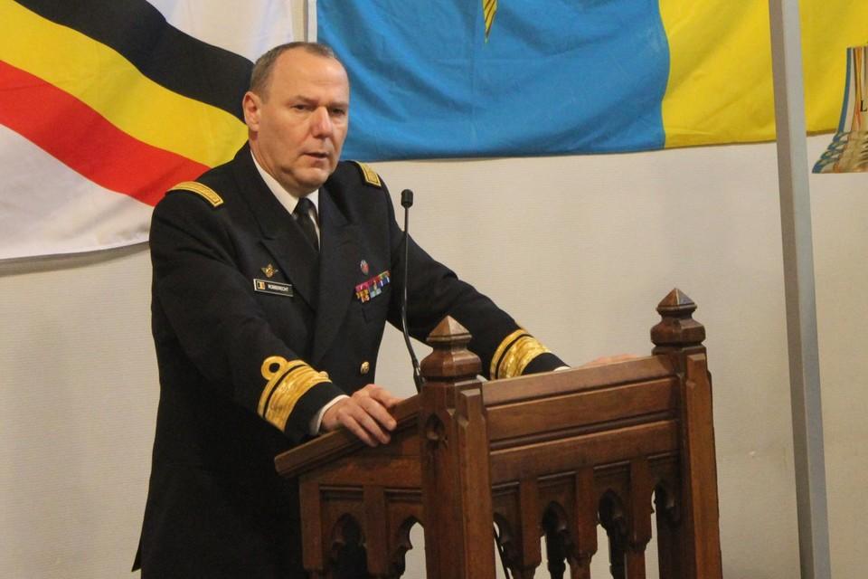 Vice-admiraal Wim Robberecht (archiefbeeld-).