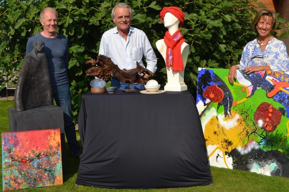 Dick Schelpe, Dirk Gernaey en Marleen Vander Cleyen zijn drie van de zes deelnemende kunstenaars.