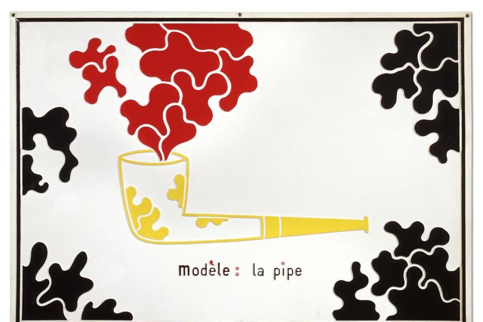 Met een knipoog naar Magritte.