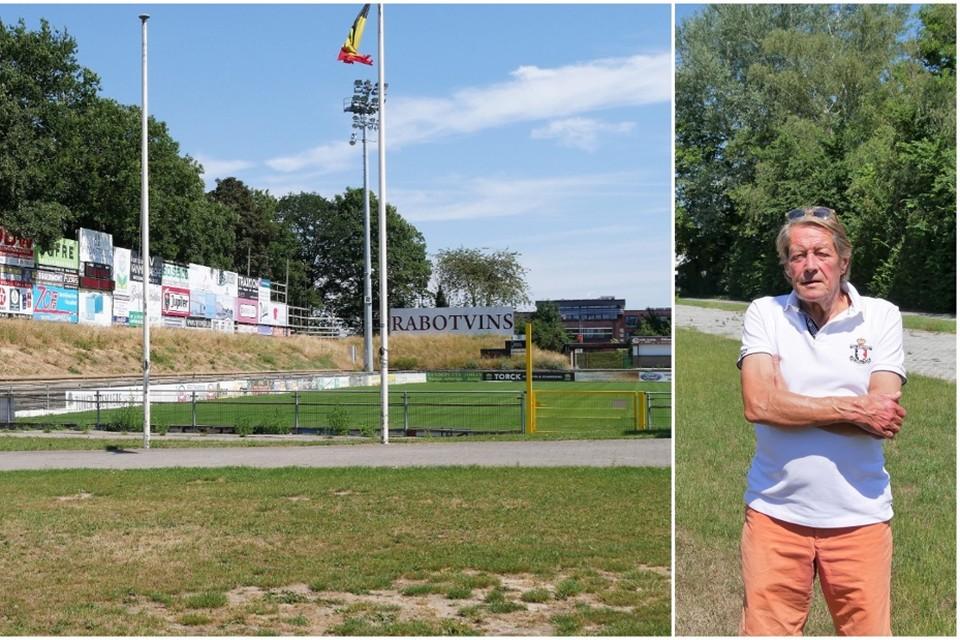 Sportschepen Norbert De Mey kondigt de aanleg van het eerste kunstgrasveld aan op Brielmeersen. SK Deinze zelf bouwt hier een nieuwe overdekte maar tijdelijke tribune.