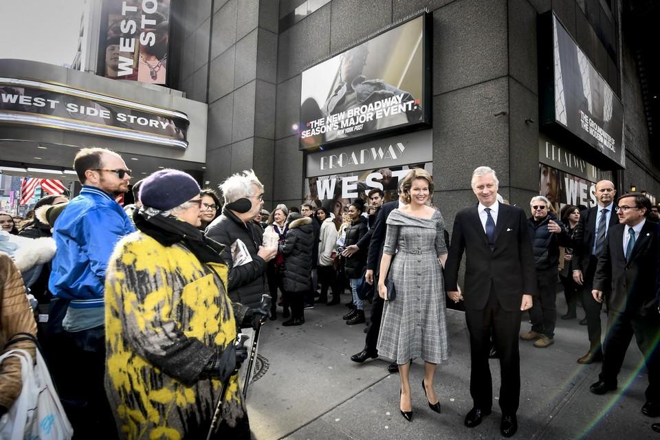 Het Belgische koningspaar woonde in februari 2020 een voorstelling in New York bij.