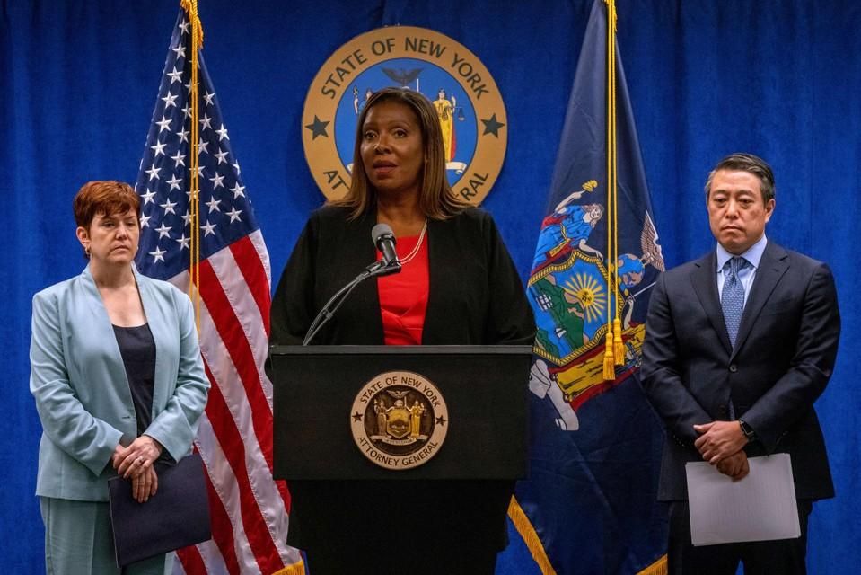 Procureur-generaal  voor de staat New York, Letitia James.