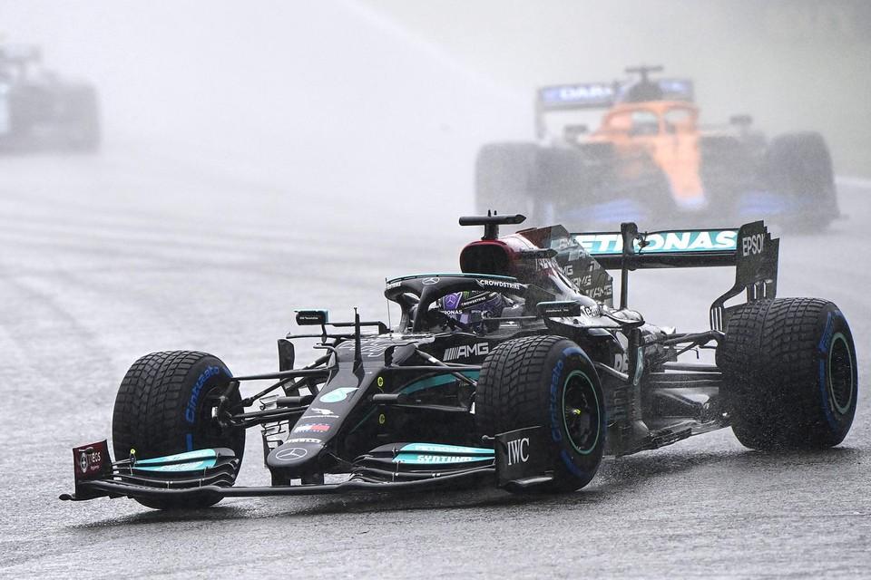 Lewis Hamilton tijdens de GP van België