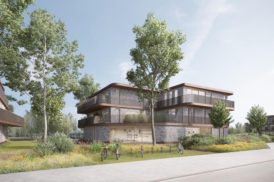 Het project Vredebrug omvat 41 appartementen langsheen de Willebroekse vaart.