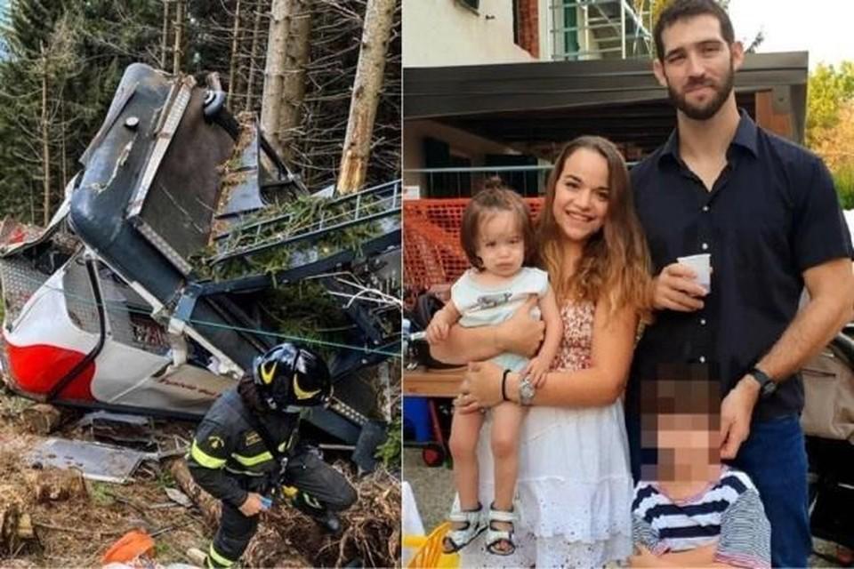 Eitan (onherkenbaar in beeld) verloor zijn vader, moeder en broertje bij het ongeval.