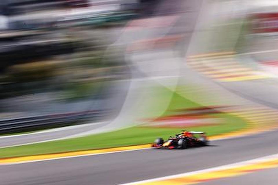 Max Verstappen op het circuit van Spa-Francorchamps in 2020