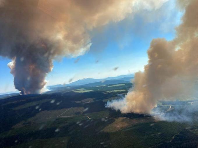 De extreme hitte zorgt ook voor brandhaarden