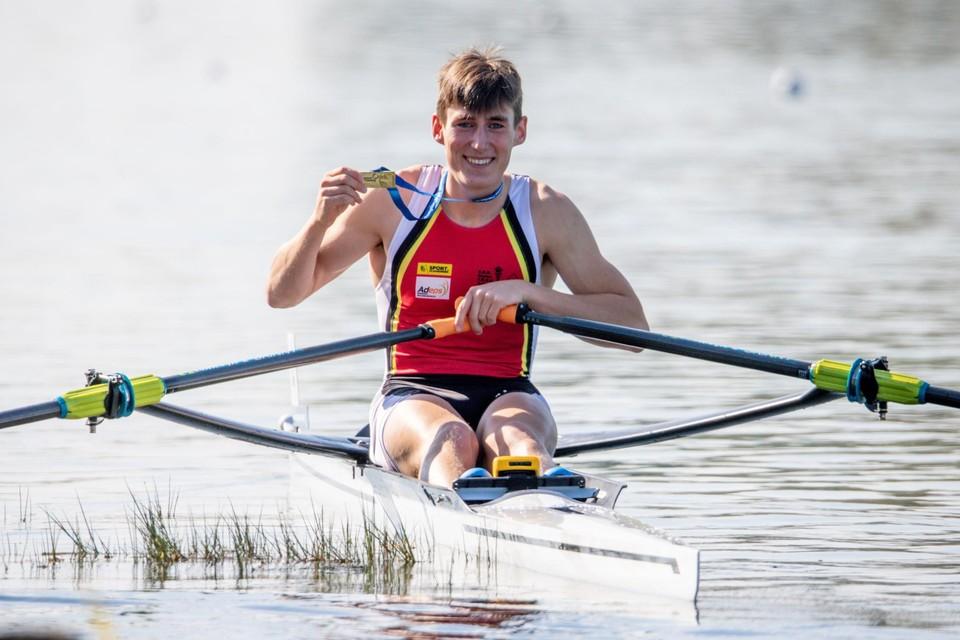 Na zijn zilveren medaille op het WK pakte Aaron Andries nu goud op het EK in München.