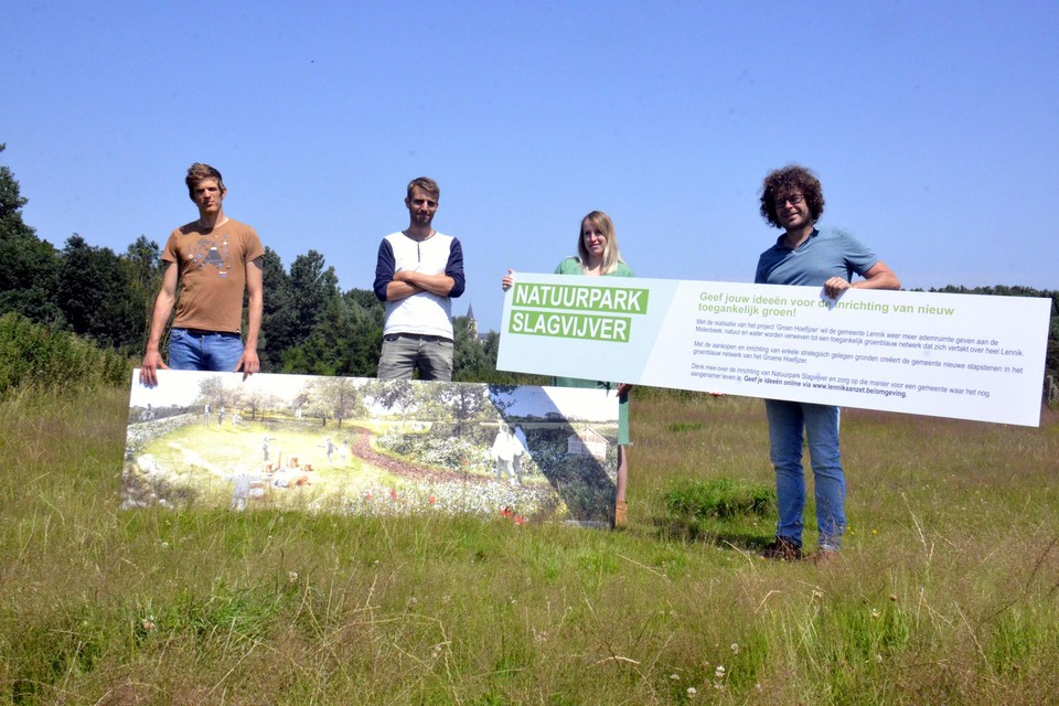 Voor de inrichting van het Natuurpark Slagvijver doet de gemeente een beroep op de creativiteit van de bewoners.