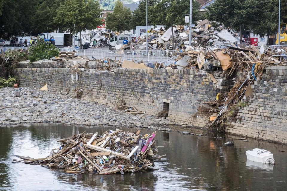 Archiefbeeld: Ravage na de overstromingen nabij Luik in Vaux-sous-Chevremont.