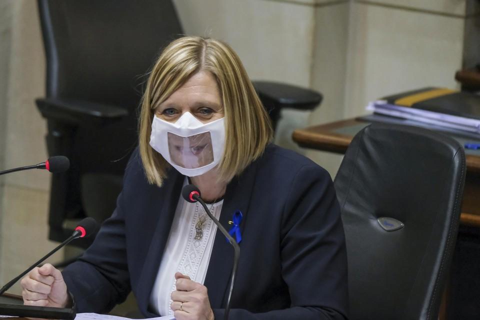 Kamervoorzitter Eliane Tilileux (PS)