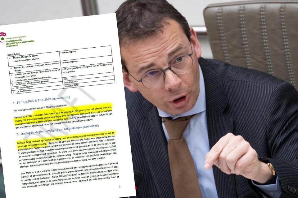 Minister Beke is zo verontwaardigd over de gang van zaken dat hij het expliciet in de notulen vermeld wil zien staan.
