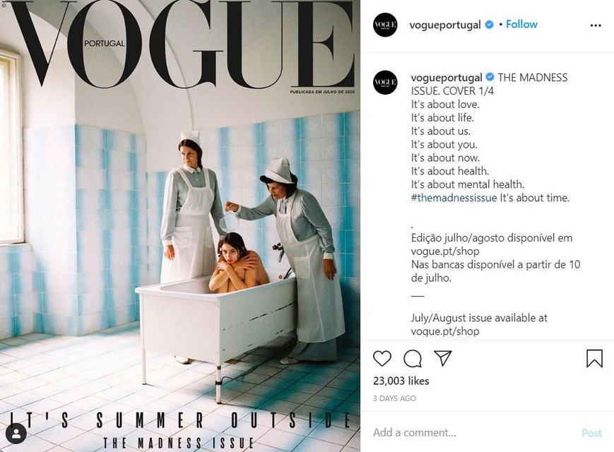 Deze cover van Vogue Portugal weekte heel wat reacties los op sociale media.