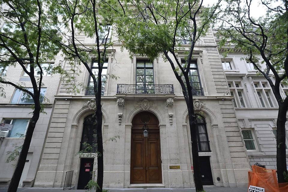 Het herenhuis van Epstein in New York.