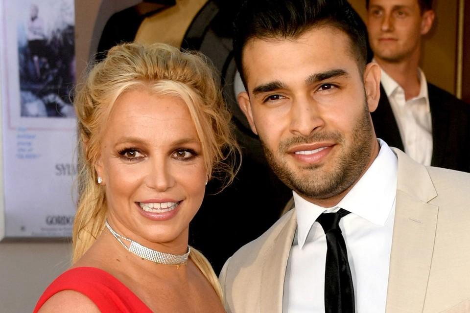 Britney Spears en haar vriend (of intussen verloofde) Sam Asghari