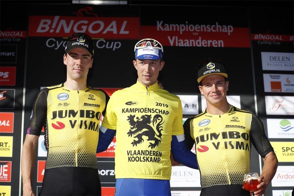 Het podium van 2019 met winnaar Jannik Steimle.