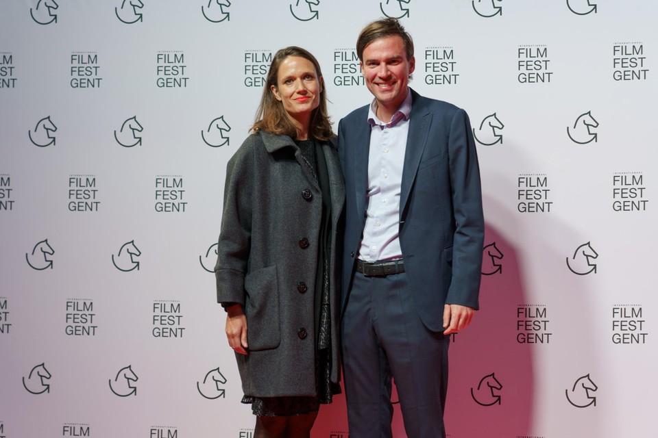 """""""De Gentse festivals komen opnieuw op gang!"""", glunderde burgemeester Mathias De Clercq, hier met zijn partner Elsbeth."""