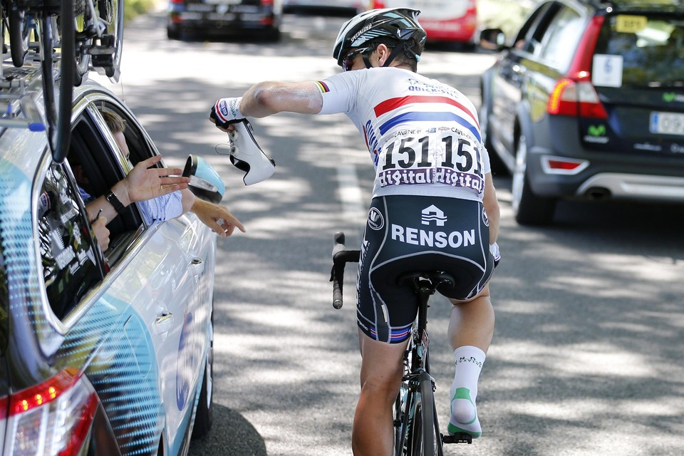 In 2013 fietste Mark Cavendish al met Renson op het achterwerk.