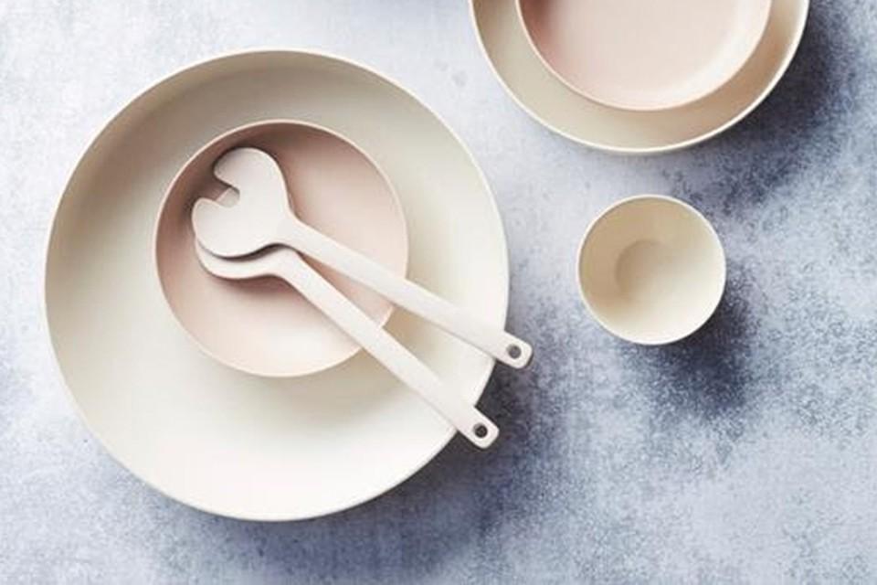 <P>Point Virgule-servies in bamboe, voor keukenprinsessen die zich inzetten tijdens mei plasticvrij, vanaf 4,50 euro </P>