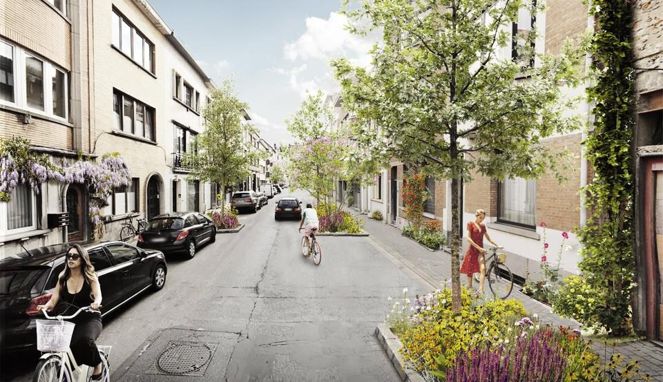 Van de Colomastraat maakt de stad een doodlopende straat.