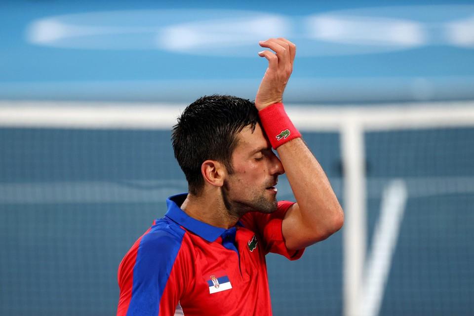 De wedstrijd te veel voor Djokovic, die volledig uitgeput was op het einde van de halve finale tegen Zverev.
