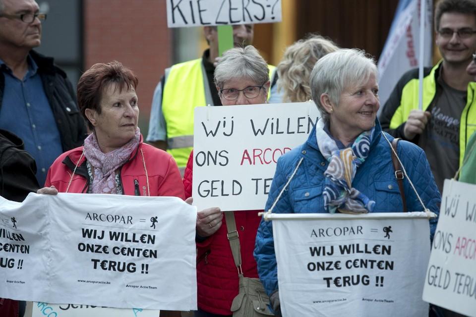 Een betoging van gedupeerden, in 2016.