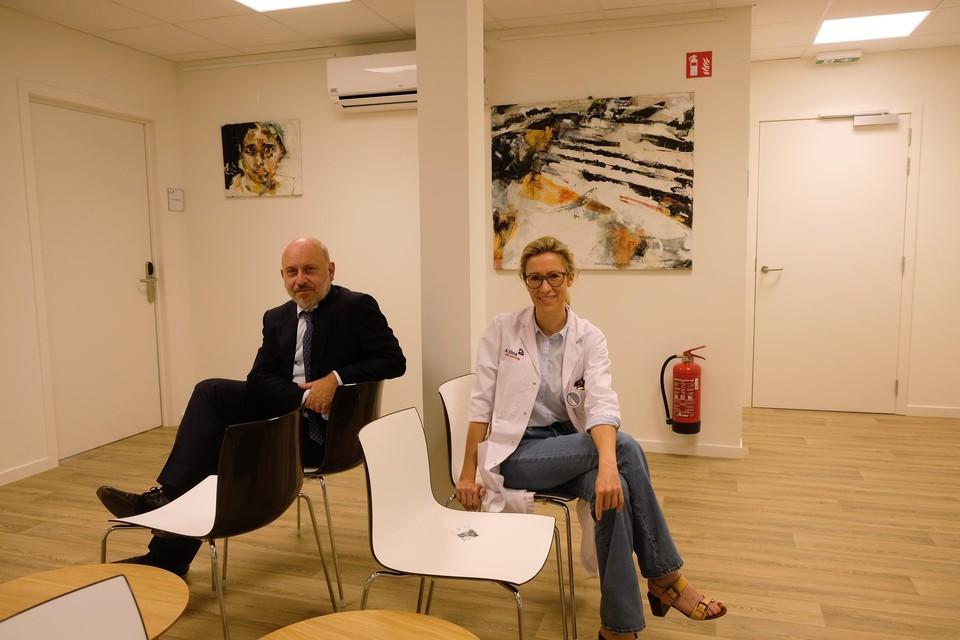 Hoofdgeneesheer Joost Baert en afdelingshoofd psychiatrie Marjolijn Bergoets.